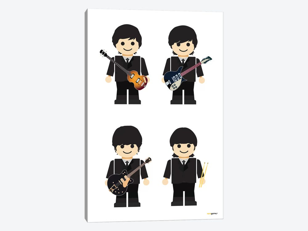 Toy The Beatles I by Rafael Gomes 1-piece Canvas Art