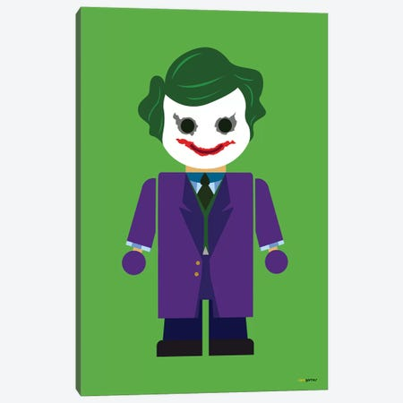 Toy The Joker Canvas Print #RAF71} by Rafael Gomes Canvas Art Print
