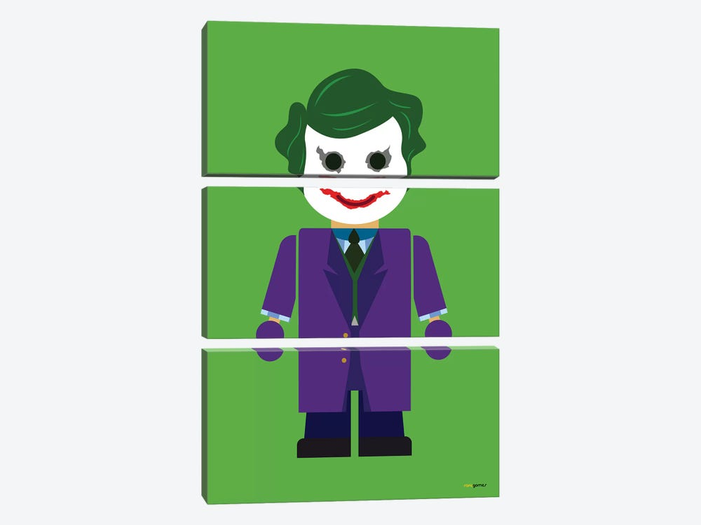 Toy The Joker by Rafael Gomes 3-piece Canvas Print