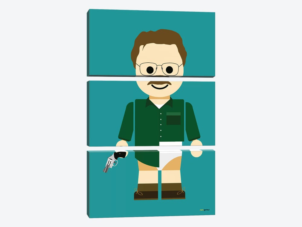 Toy Walter White by Rafael Gomes 3-piece Canvas Wall Art