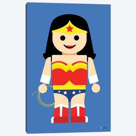 Toy Wonder Woman Canvas Print #RAF73} by Rafael Gomes Canvas Art Print