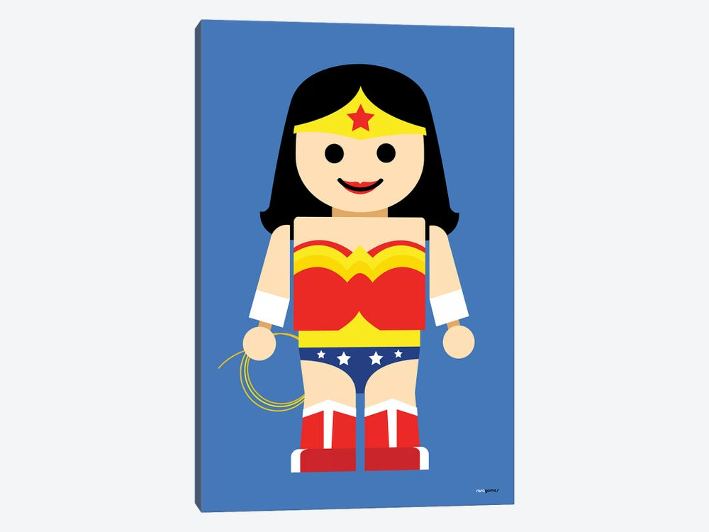 Toy Wonder Woman by Rafael Gomes 1-piece Canvas Print