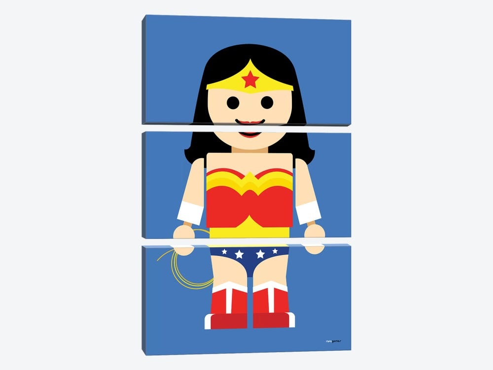 Toy Wonder Woman by Rafael Gomes 3-piece Art Print