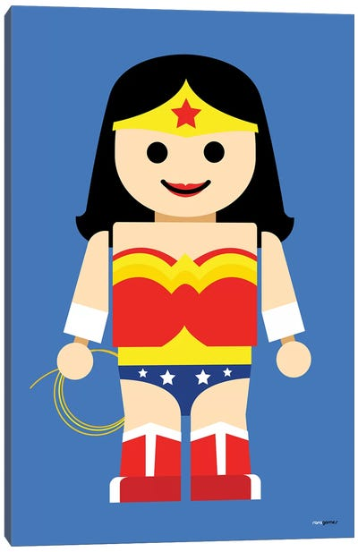 Toy Wonder Woman Canvas Art Print