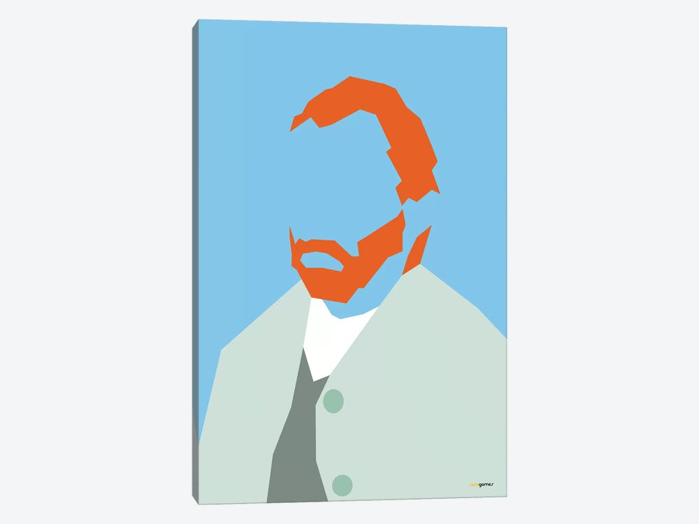 Van Gogh by Rafael Gomes 1-piece Canvas Wall Art