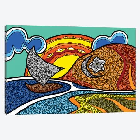Canoa Quebrada Canvas Print #RAF77} by Rafael Gomes Canvas Wall Art