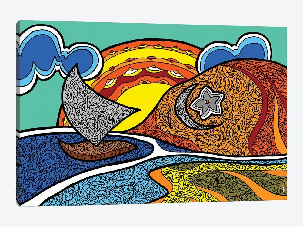 Canoa Quebrada by Rafael Gomes 1-piece Canvas Print