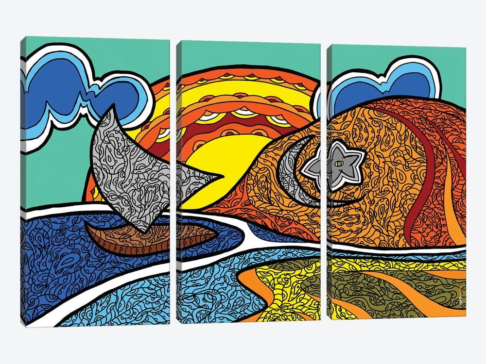 Canoa Quebrada by Rafael Gomes 3-piece Canvas Art Print