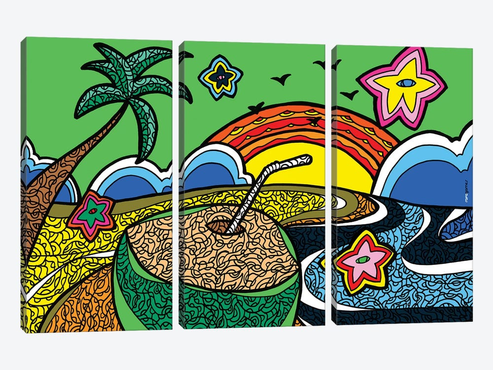 Praia do Iguape by Rafael Gomes 3-piece Canvas Artwork