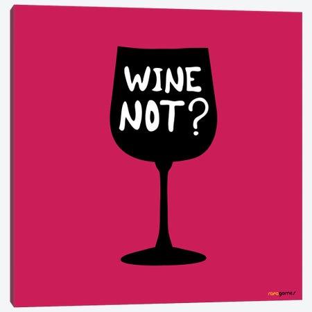 Wine Not? 3-Piece Canvas #RAF84} by Rafael Gomes Canvas Print