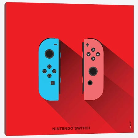 Joystick Nintendo Switch Canvas Print #RAF87} by Rafael Gomes Canvas Art Print
