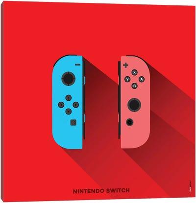 Joystick Nintendo Switch Canvas Art Print