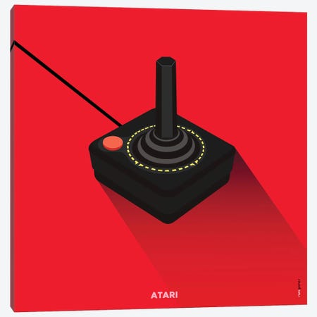 Joystick Atari Canvas Print #RAF88} by Rafael Gomes Canvas Art