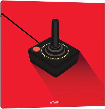 Joystick Atari Canvas Art Print