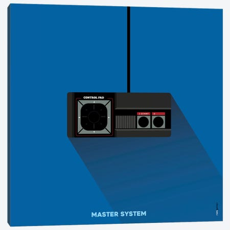Joystick Master System Canvas Print #RAF89} by Rafael Gomes Canvas Art