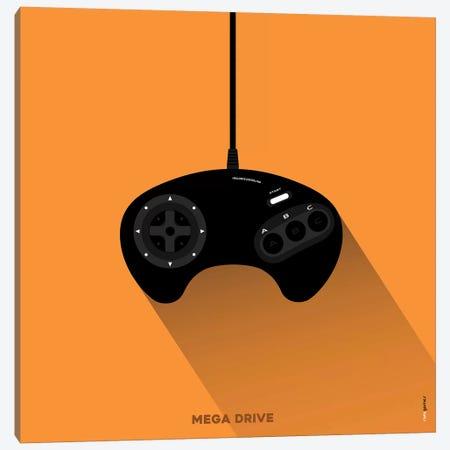Joystick Mega Drive Canvas Print #RAF90} by Rafael Gomes Canvas Print
