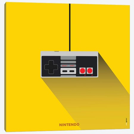 Joystick Nintendo Canvas Print #RAF91} by Rafael Gomes Canvas Print