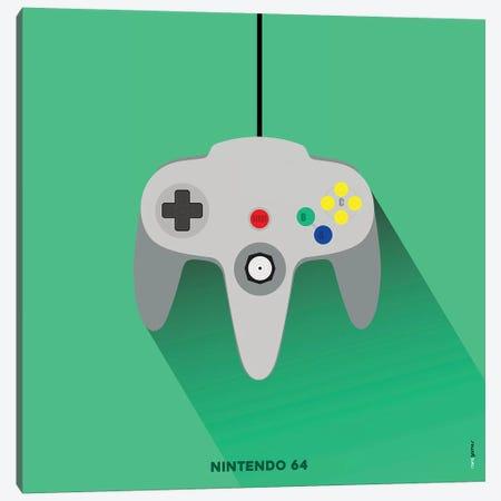 Joystick Nintendo 64 Canvas Print #RAF92} by Rafael Gomes Art Print
