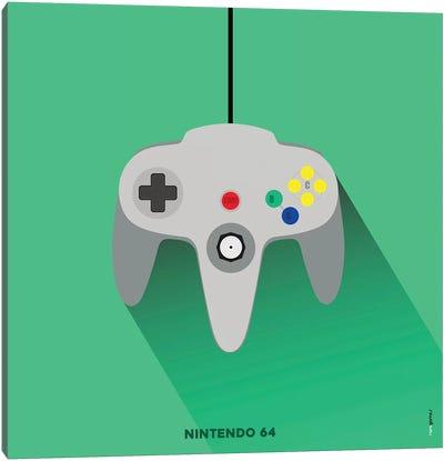 Joystick Nintendo 64 Canvas Art Print