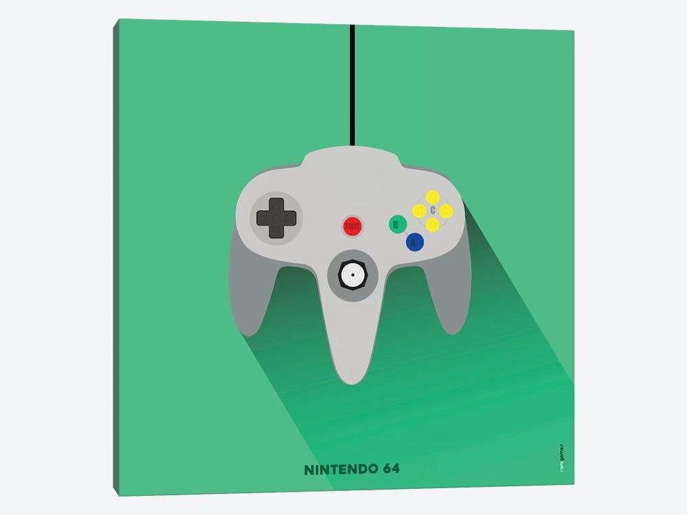 Joystick Nintendo 64 by Rafael Gomes 1-piece Canvas Art