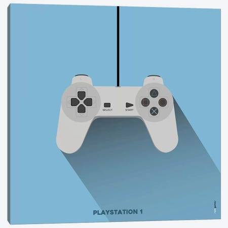 Joystick Playstation 1 Canvas Print #RAF93} by Rafael Gomes Canvas Art Print