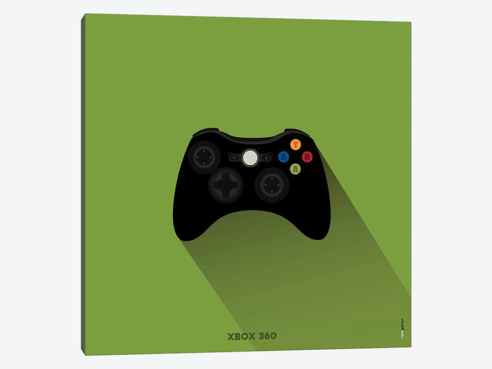 Joystick Xbox 360 by Rafael Gomes 1-piece Canvas Art Print