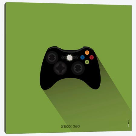 Joystick Xbox 360 Canvas Print #RAF95} by Rafael Gomes Canvas Wall Art