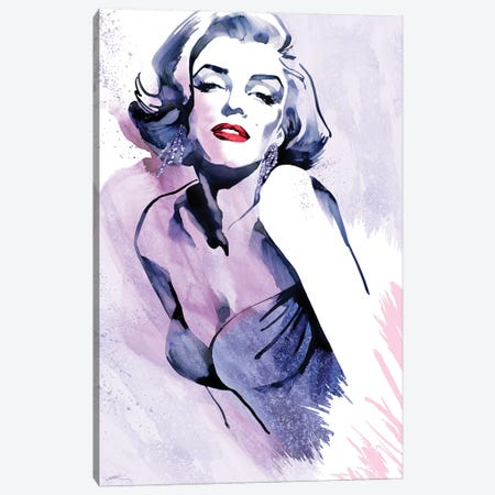 Marilyn's Pose Canvas Print #RAH1} by Ellie Rahim Canvas Artwork