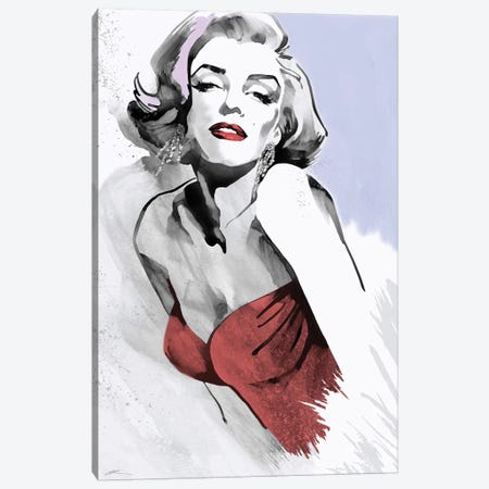 Marilyn Three Faces I Canvas Print #RAH6} by Ellie Rahim Canvas Art Print
