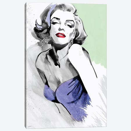 Marilyn Three Faces III Canvas Print #RAH8} by Ellie Rahim Canvas Artwork
