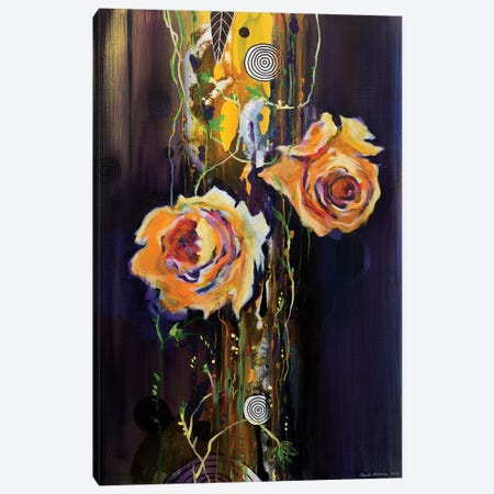 Purpur Rain Canvas Print #RAN14} by Randi Antonsen Canvas Artwork