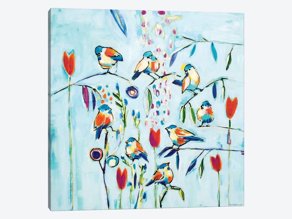 Blue Sky Birds by Randi Antonsen 1-piece Canvas Art