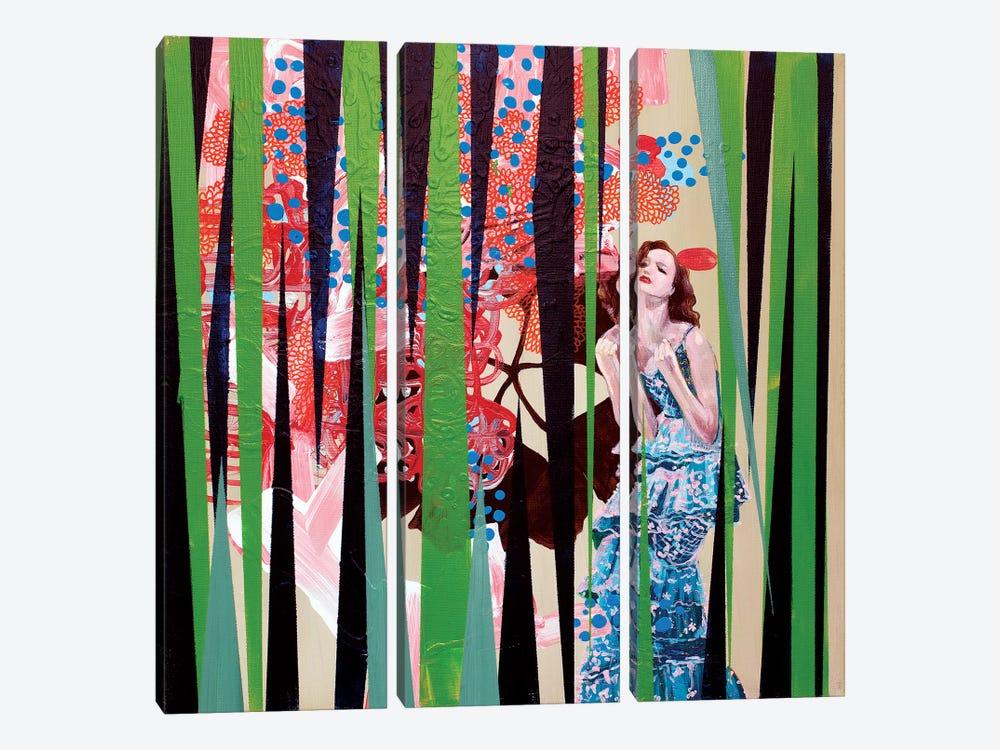 Thinking About Jeff by Randi Antonsen 3-piece Canvas Wall Art