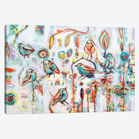 Garden Party 3-Piece Canvas #RAN3} by Randi Antonsen Canvas Wall Art