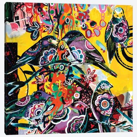 Birds in yellow Canvas Print #RAN50} by Randi Antonsen Canvas Art Print