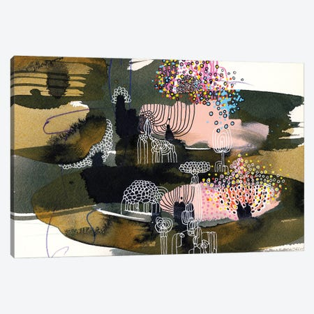 moon rabbit Canvas Print #RAN54} by Randi Antonsen Canvas Wall Art