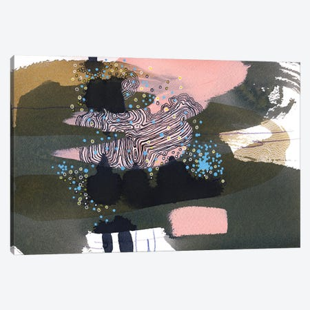 moon rabbit II Canvas Print #RAN55} by Randi Antonsen Canvas Art