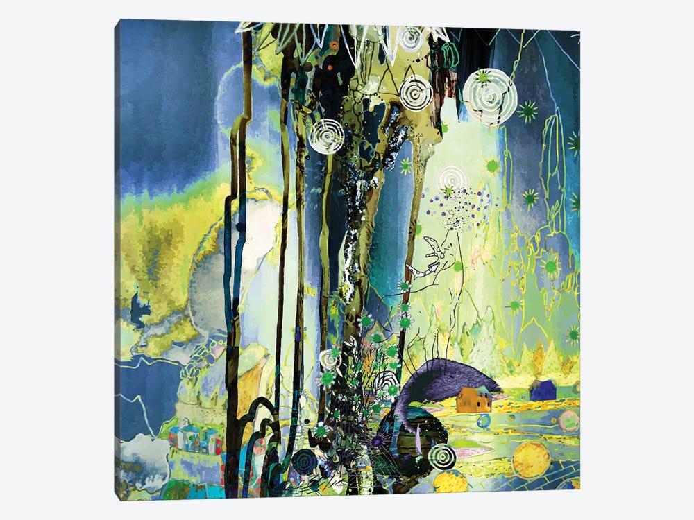 Golden And Blue by Randi Antonsen 1-piece Canvas Artwork