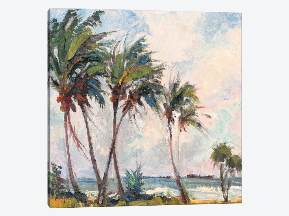 Six Palms by Richard A. Rodgers 1-piece Canvas Print