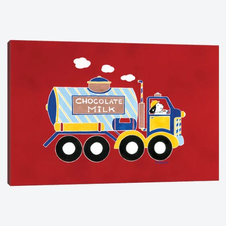 Chocolate Milk Truck Canvas Print #RAS2} by Shelly Rasche Canvas Art