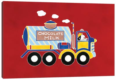 Chocolate Milk Truck Canvas Art Print