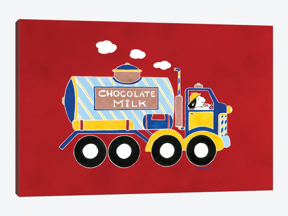 Chocolate Milk Truck by Shelly Rasche 1-piece Canvas Art Print
