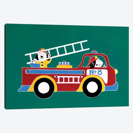 Fire Truck No. 8 Canvas Print #RAS4} by Shelly Rasche Canvas Art Print