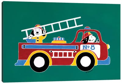 Fire Truck No. 8 Canvas Art Print
