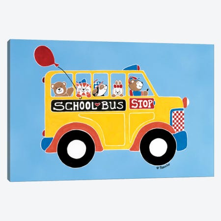 Off To School Canvas Print #RAS5} by Shelly Rasche Art Print