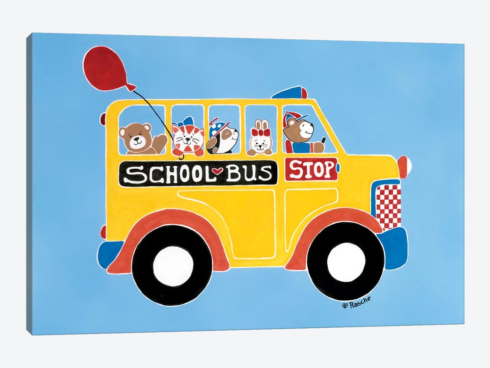 Off To School by Shelly Rasche 1-piece Canvas Wall Art