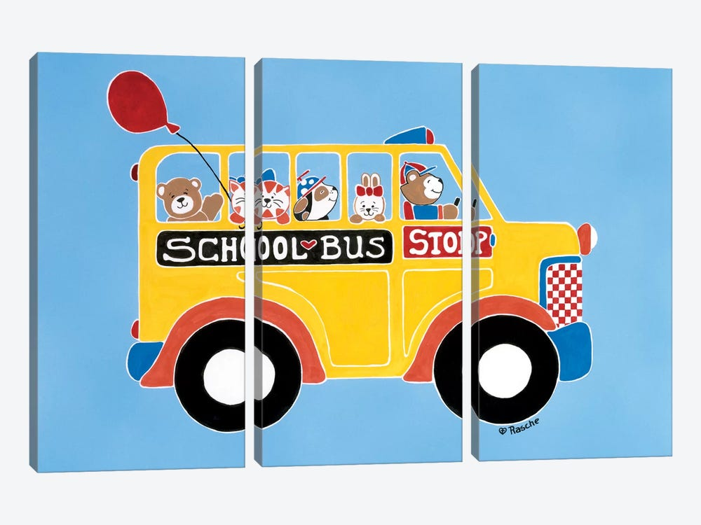 Off To School by Shelly Rasche 3-piece Canvas Art