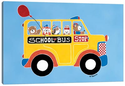 Off To School Canvas Art Print