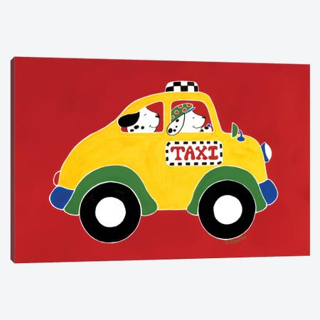 TAXI! Canvas Print #RAS6} by Shelly Rasche Canvas Art Print