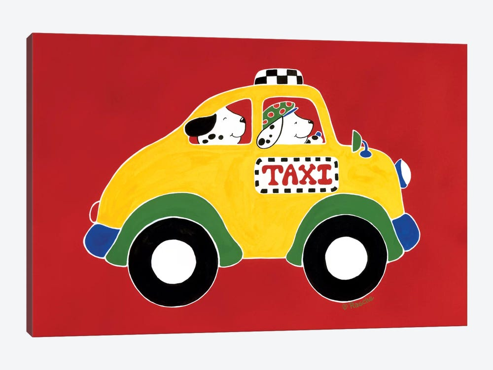TAXI! by Shelly Rasche 1-piece Art Print